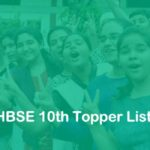 HBSE 10th Topper List 2020 School Wise - Haryana 10th Merit List District Wise